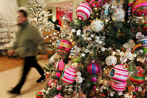 Grocery supermarket checkout grooves a christmas surprise for H h christmas decorations