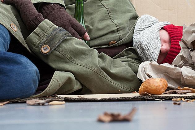 Homeless sleeping on the street
